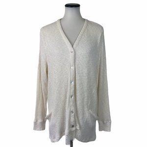 LOGO Lori Goldstein Ribbed Cardigan Sweater #96